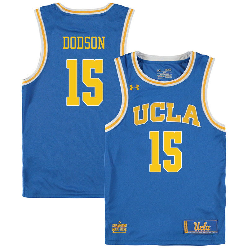 Men #15 Armani Dodson UCLA Bruins College Basketball Jerseys Sale-Blue