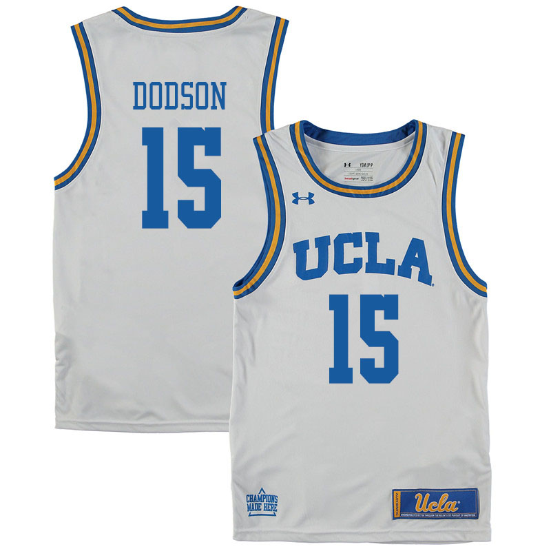 Men #15 Armani Dodson UCLA Bruins College Basketball Jerseys Sale-White