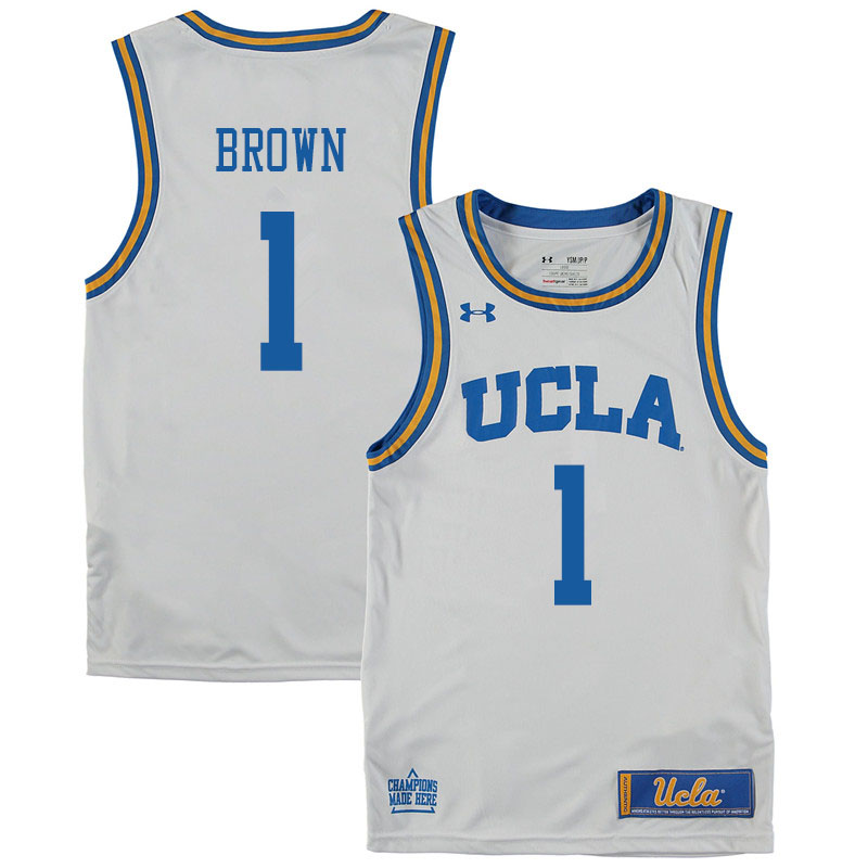 Men #1 Moses Brown UCLA Bruins College Basketball Jerseys Sale-White