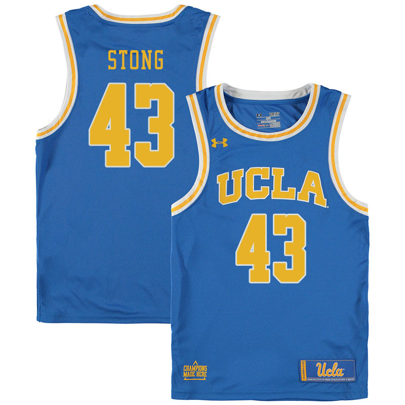 Men #43 Russell Stong UCLA Bruins College Basketball Jerseys Sale-Blue