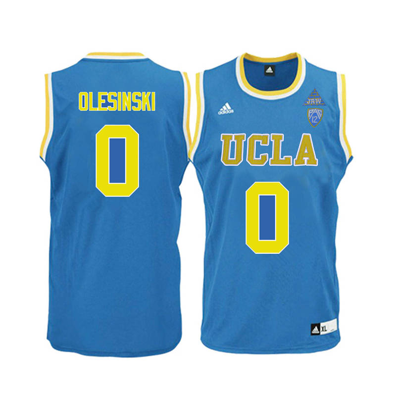 Men UCLA Bruins #0 Alex Olesinski College Basketball Jerseys-Blue
