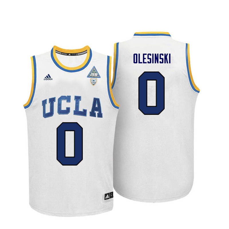 Men UCLA Bruins #0 Alex Olesinski College Basketball Jerseys-White