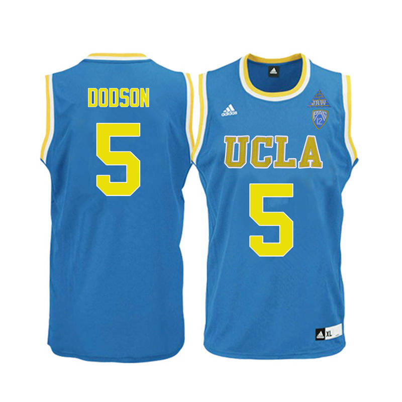 Men UCLA Bruins #5 Armani Dodson College Basketball Jerseys-Blue