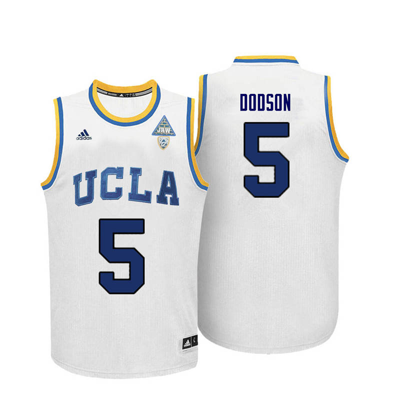 Men UCLA Bruins #5 Armani Dodson College Basketball Jerseys-White