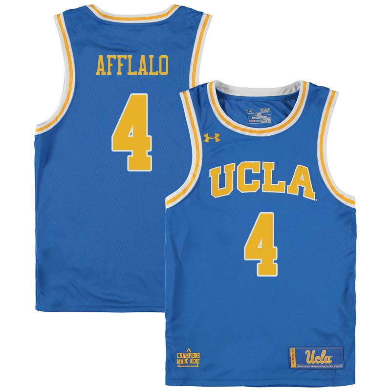 Men #4 Arron Afflalo UCLA Bruins College Basketball Jerseys Sale-Blue