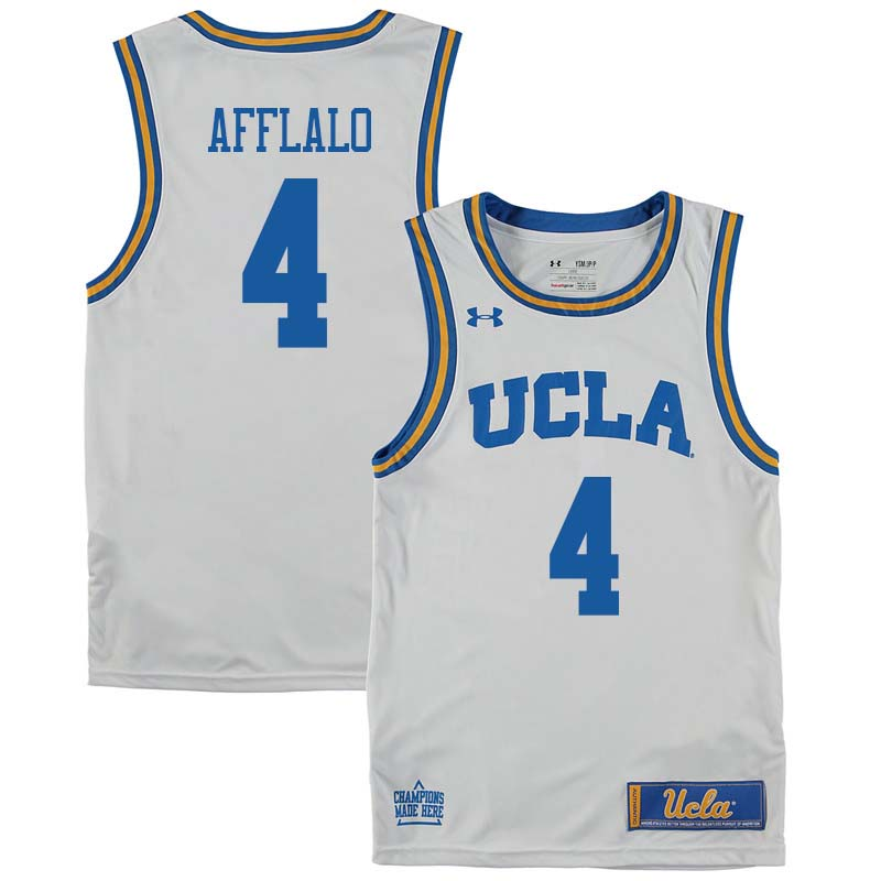Men #4 Arron Afflalo UCLA Bruins College Basketball Jerseys Sale-White