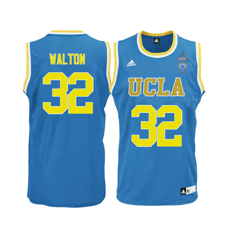 Men UCLA Bruins #32 Bill Walton College Basketball Jerseys-Blue