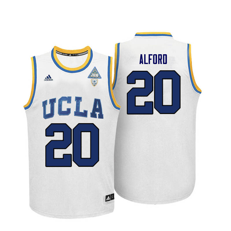 Men UCLA Bruins #20 Bryce Alford College Basketball Jerseys-White