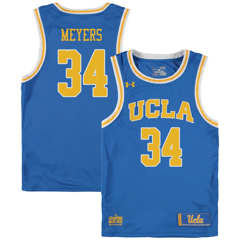 Men #34 Dave Meyers UCLA Bruins College Basketball Jerseys Sale-Blue