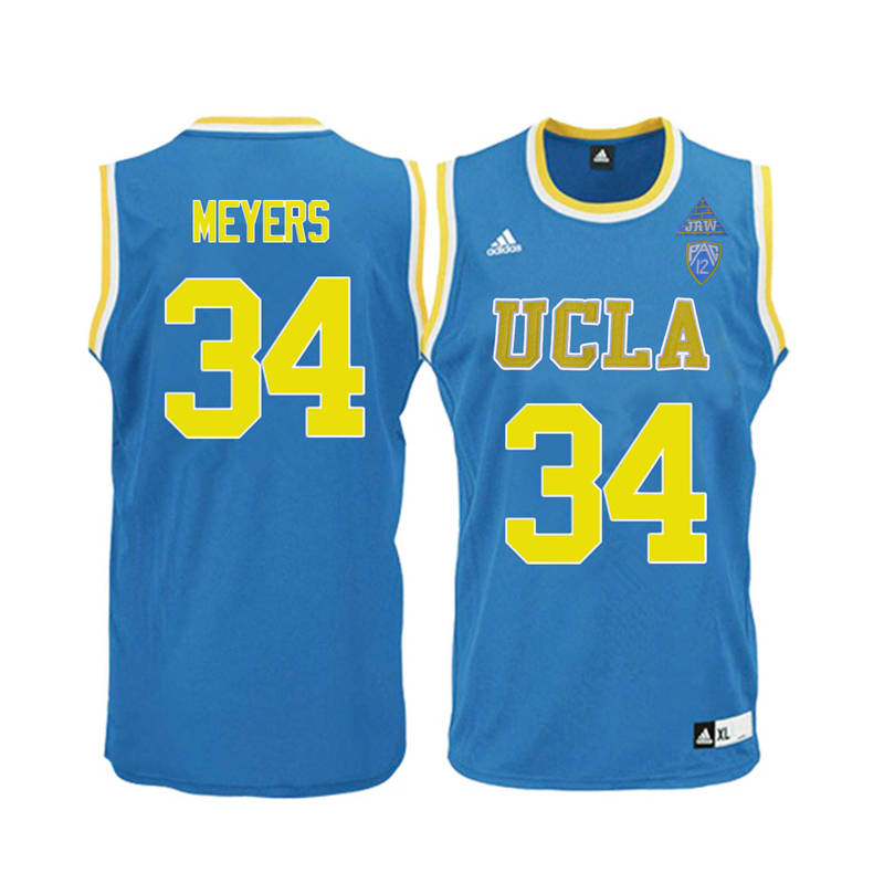 Men UCLA Bruins #34 Dave Meyers College Basketball Jerseys-Blue