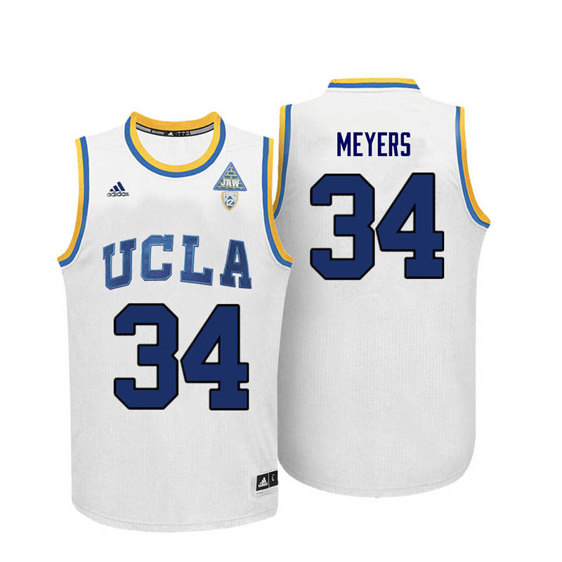 Men UCLA Bruins #34 Dave Meyers College Basketball Jerseys-White