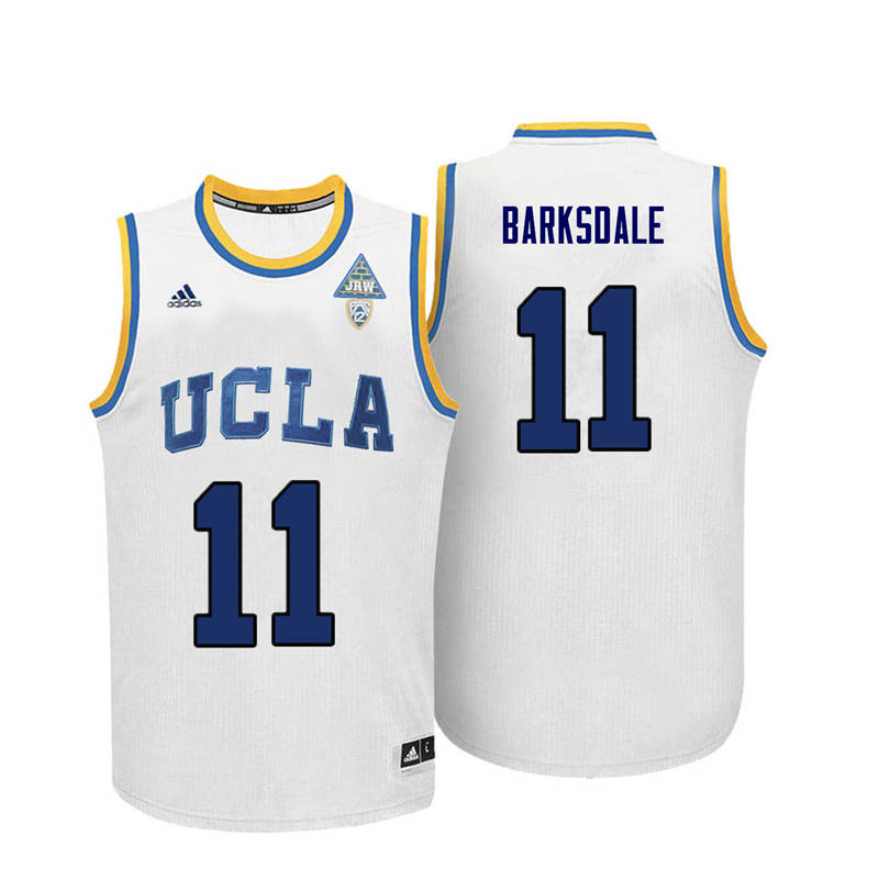 Men UCLA Bruins #11 Don Barksdale College Basketball Jerseys-White