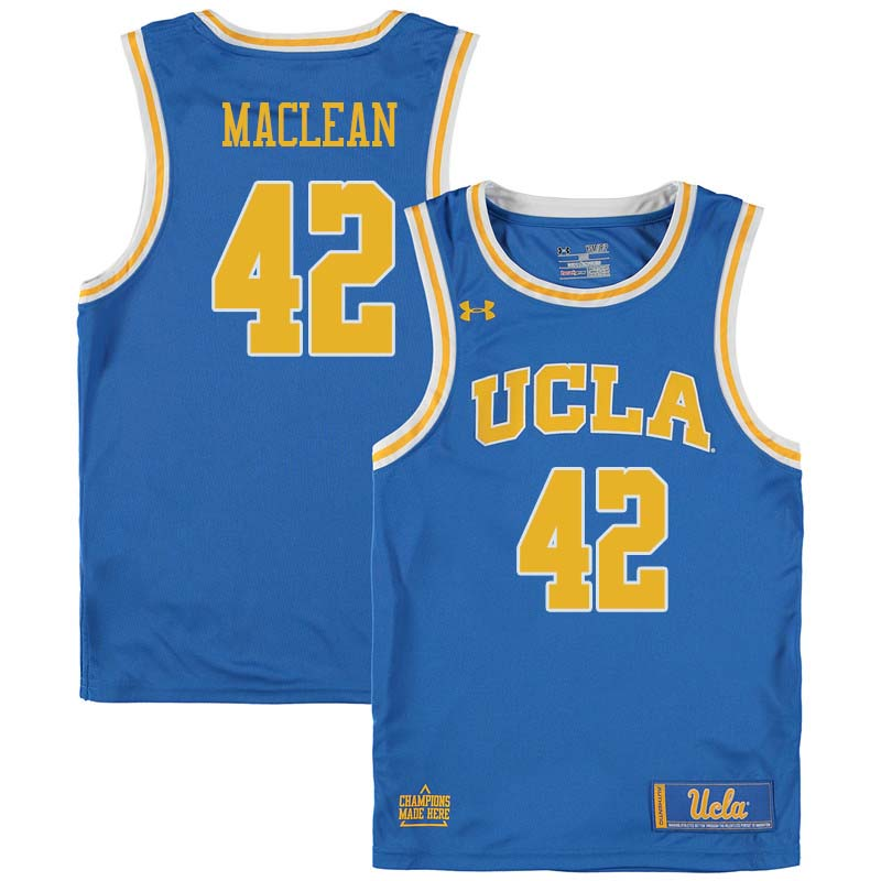 Men #42 Don MacLean UCLA Bruins College Basketball Jerseys Sale-Blue