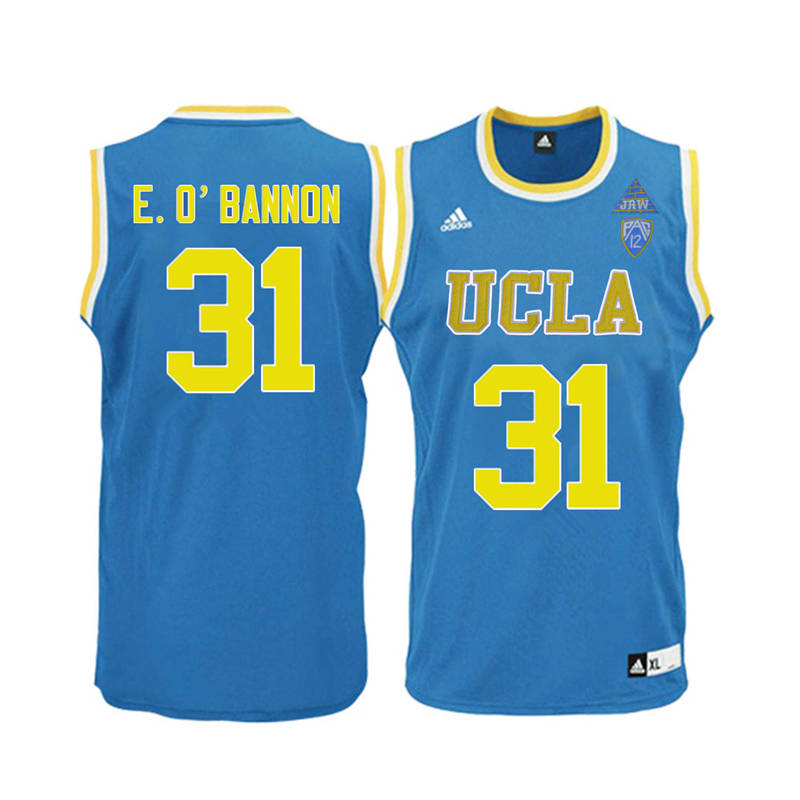 Men UCLA Bruins #31 Ed O'Bannon College Basketball Jerseys-Blue