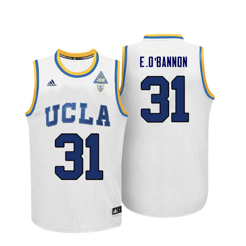 Men UCLA Bruins #31 Ed O'Bannon College Basketball Jerseys-White