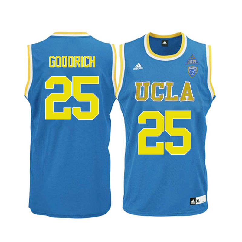 Men UCLA Bruins #25 Gail Goodrich College Basketball Jerseys-Blue