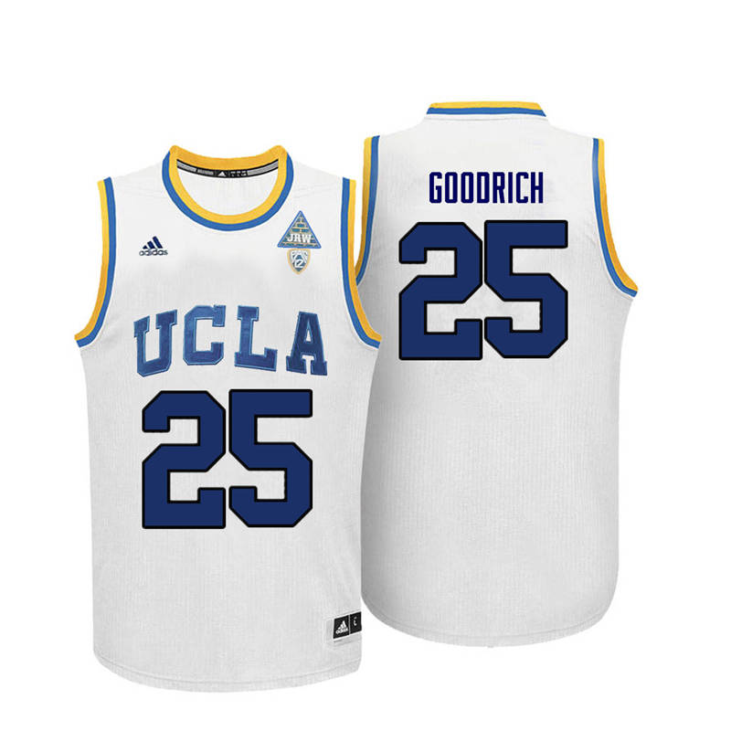 Men UCLA Bruins #25 Gail Goodrich College Basketball Jerseys-White