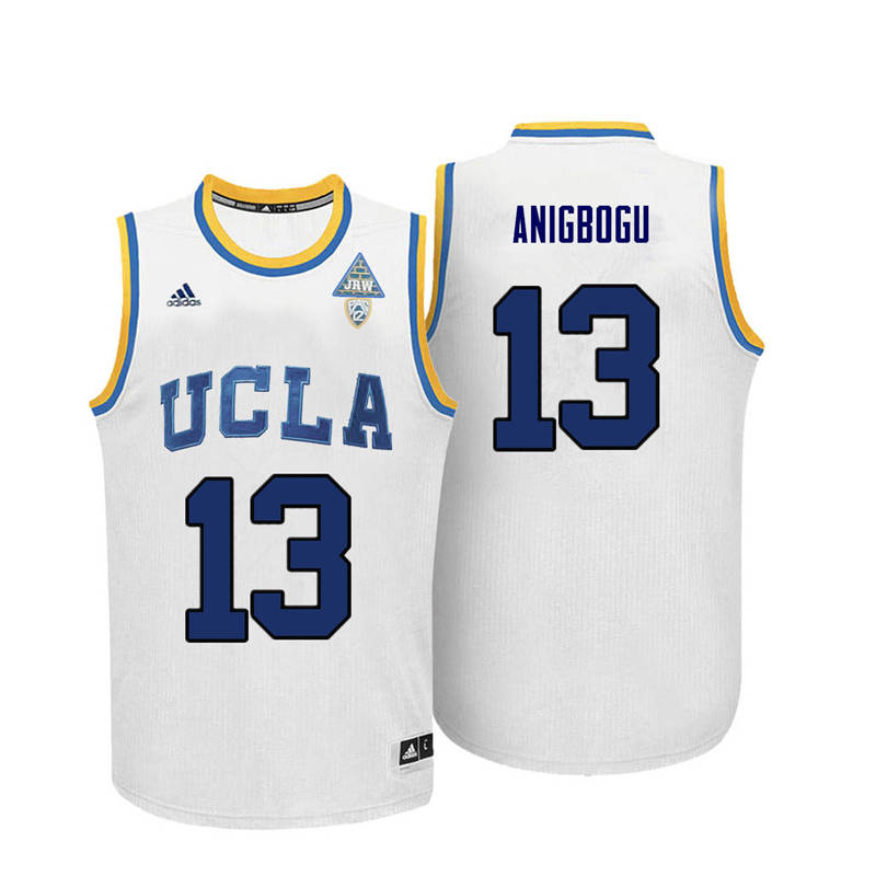 Men UCLA Bruins #13 Ike Anigbogu College Basketball Jerseys-White