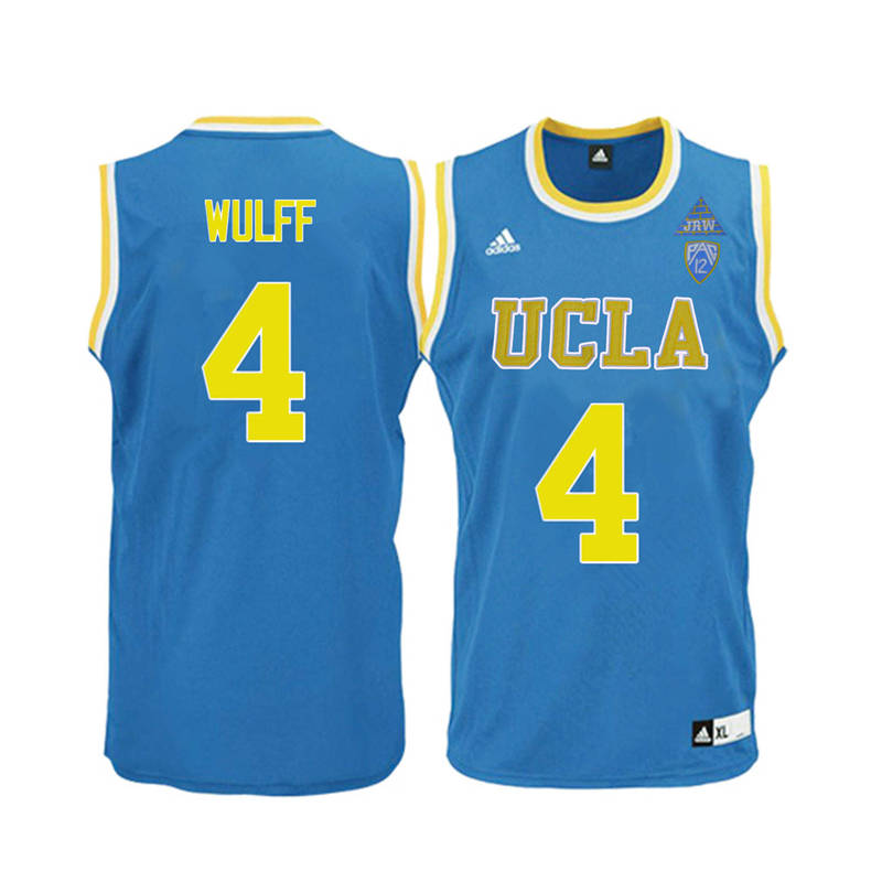 Men UCLA Bruins #4 Isaac Wulff College Basketball Jerseys-Blue