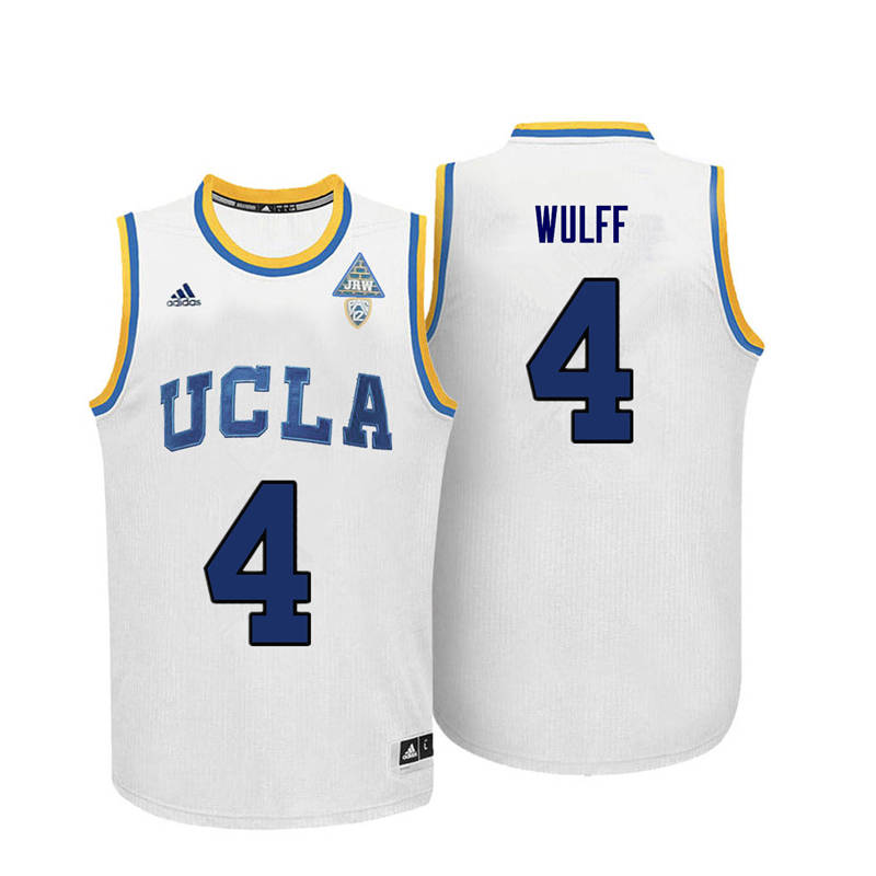 Men UCLA Bruins #4 Isaac Wulff College Basketball Jerseys-White