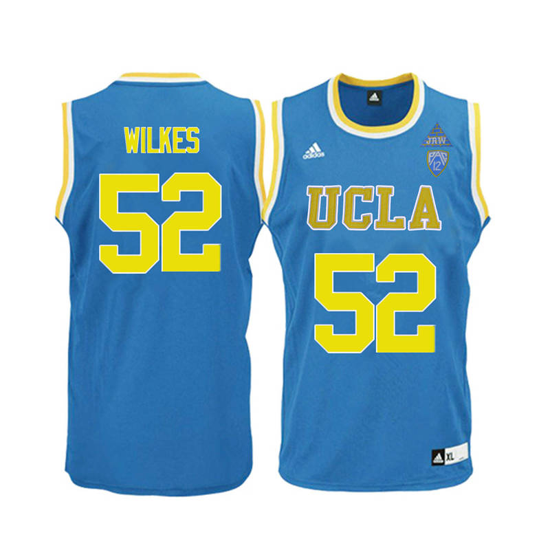 Men UCLA Bruins #52 Jamaal Wilkes College Basketball Jerseys-Blue