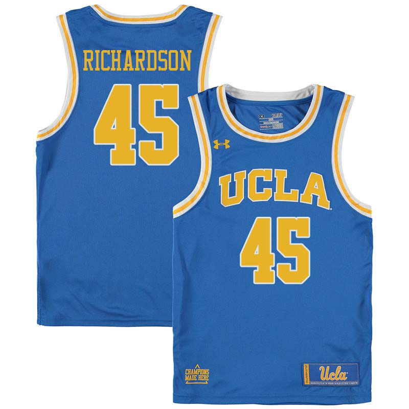 Men #45 Jerome Richardson UCLA Bruins College Basketball Jerseys Sale-Blue