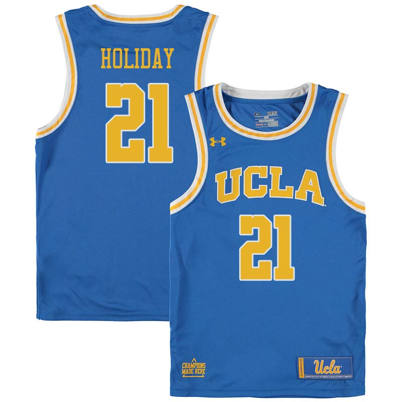 Men #21 Jrue Holiday UCLA Bruins College Basketball Jerseys Sale-Blue