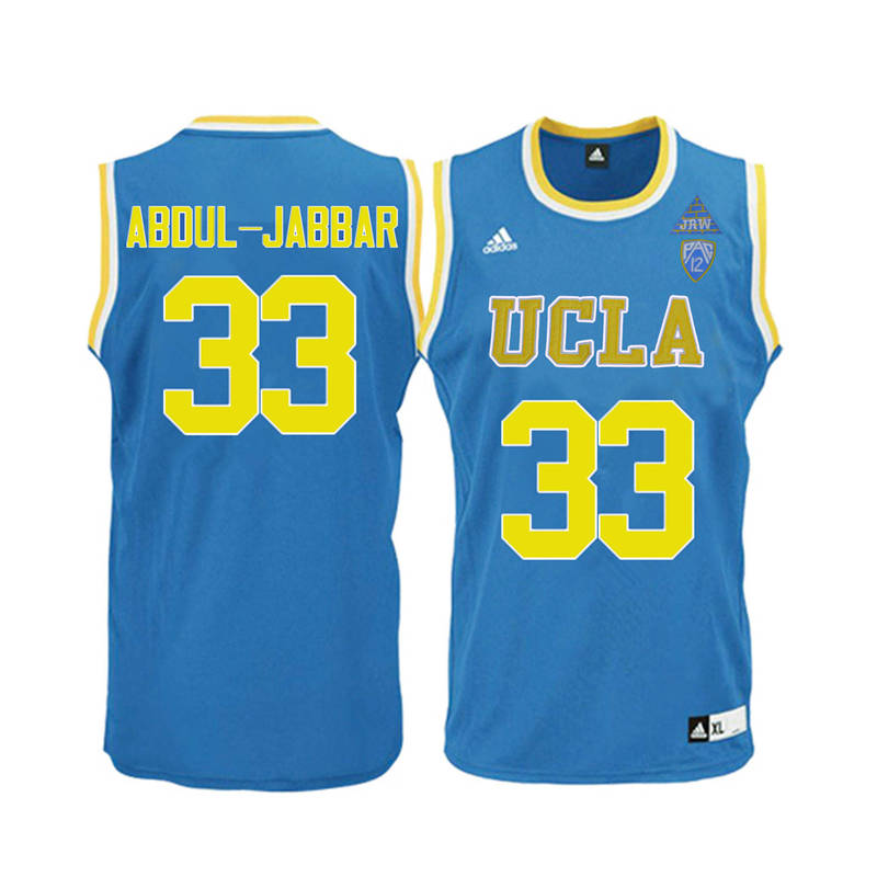 Men UCLA Bruins #33 Kareem Abdul-Jabbar College Basketball Jerseys-Blue