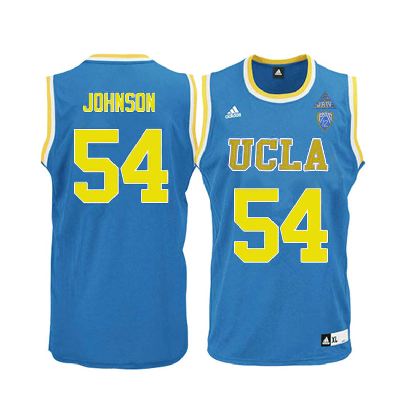 Men UCLA Bruins #54 Marques Johnson College Basketball Jerseys-Blue