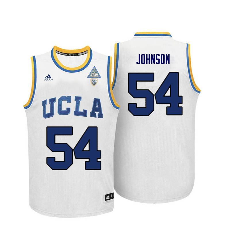 Men UCLA Bruins #54 Marques Johnson College Basketball Jerseys-White