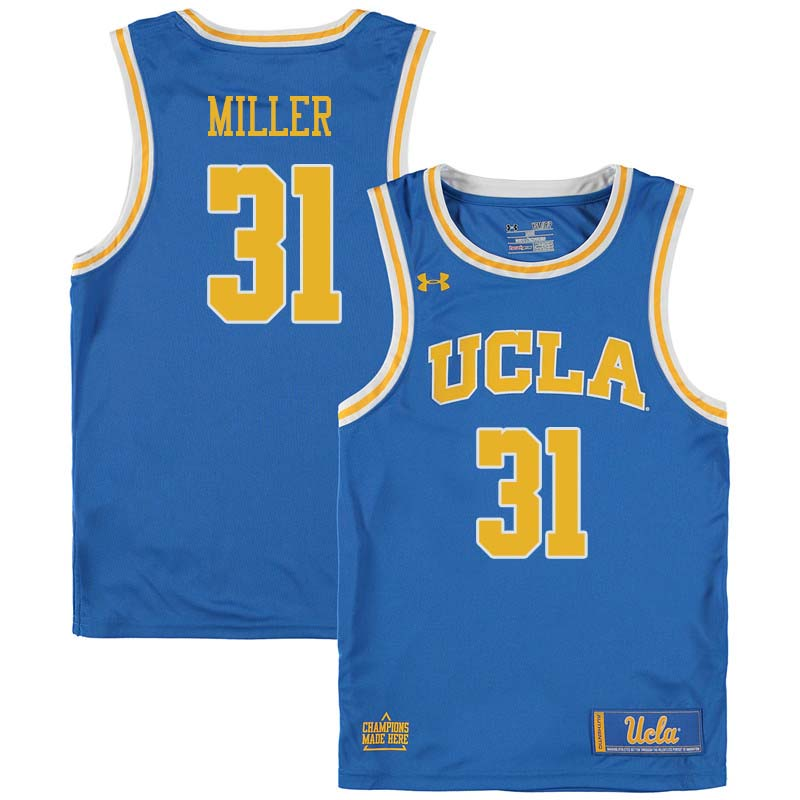 Men #31 Reggie Miller UCLA Bruins College Basketball Jerseys Sale-Blue