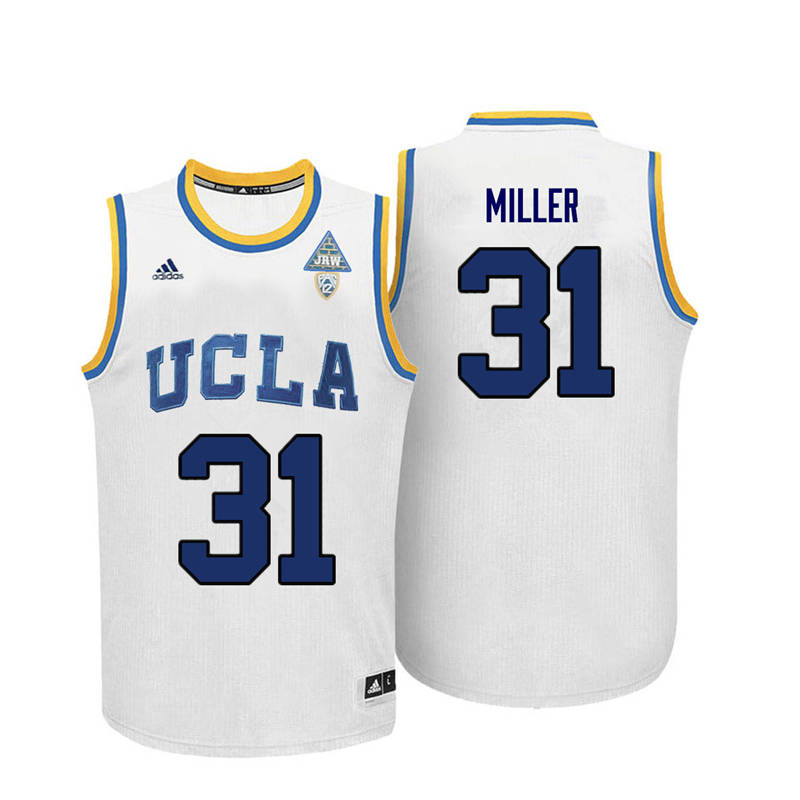 Men UCLA Bruins #31 Reggie Miller College Basketball Jerseys-White