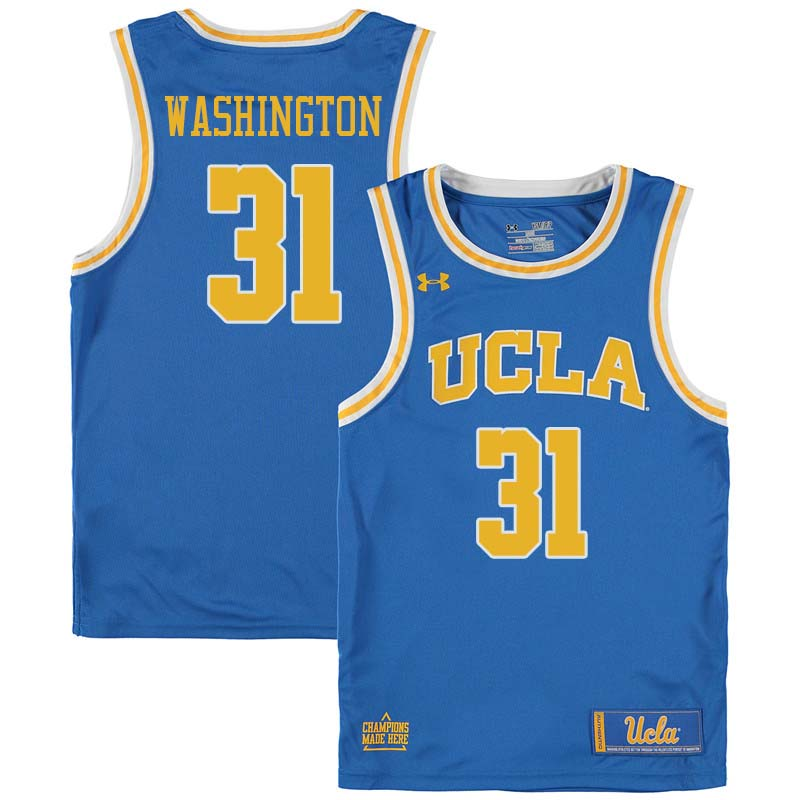 Men #31 Richard Washington UCLA Bruins College Basketball Jerseys Sale-Blue