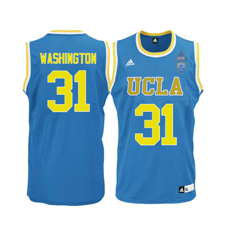 Men UCLA Bruins #31 Richard Washington College Basketball Jerseys-Blue