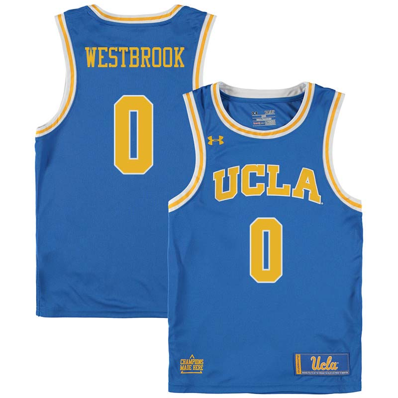 Men #0 Russell Westbrook UCLA Bruins College Basketball Jerseys Sale-Blue