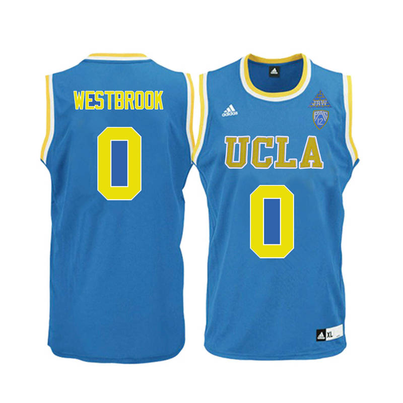 Men UCLA Bruins #0 Russell Westbrook College Basketball Jerseys-Blue