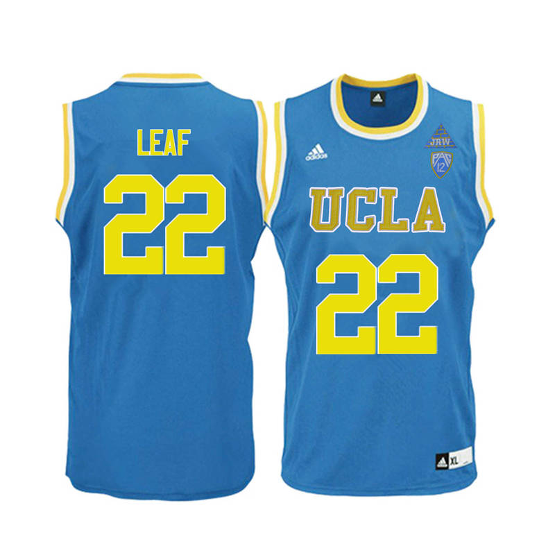 Men UCLA Bruins #22 T.J. Leaf College Basketball Jerseys-Blue