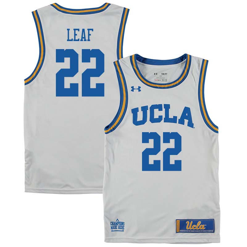 Men #22 T.J. Leaf UCLA Bruins College Basketball Jerseys Sale-White