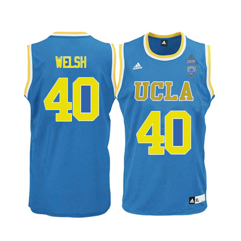 Men UCLA Bruins #40 Thomas Welsh College Basketball Jerseys-Blue