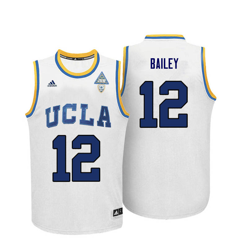 Men UCLA Bruins #12 Toby Bailey College Basketball Jerseys-White
