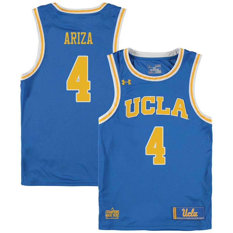 Men #4 Trevor Ariza UCLA Bruins College Basketball Jerseys Sale-Blue