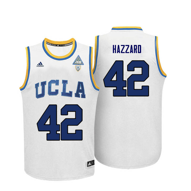 Men UCLA Bruins #42 Walt Hazzard College Basketball Jerseys-White