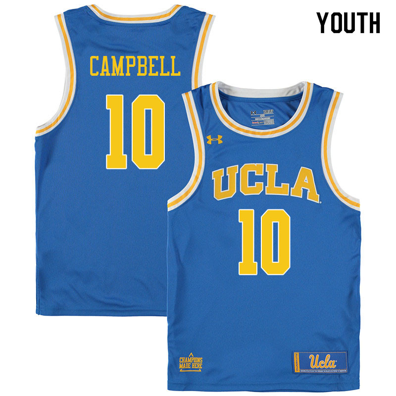 Youth #10 Tyger Campbell UCLA Bruins College Basketball Jerseys Sale-Blue