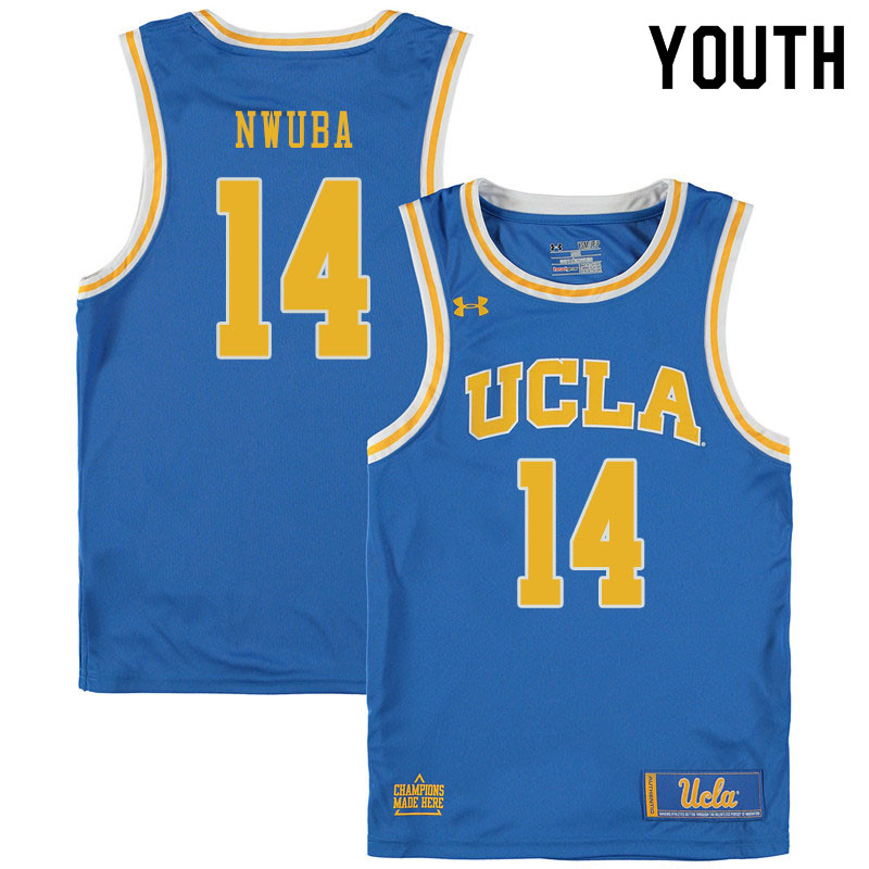 Youth #14 Kenneth Nwuba UCLA Bruins College Basketball Jerseys Sale-Blue