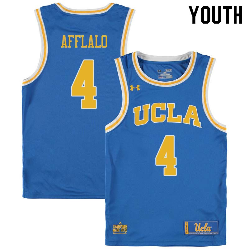 Youth #4 Arron Afflalo UCLA Bruins College Basketball Jerseys Sale-Blue