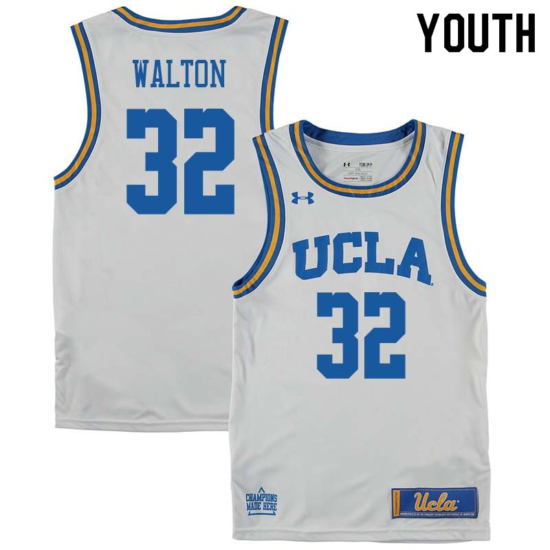 Youth #32 Bill Walton UCLA Bruins College Basketball Jerseys Sale-White