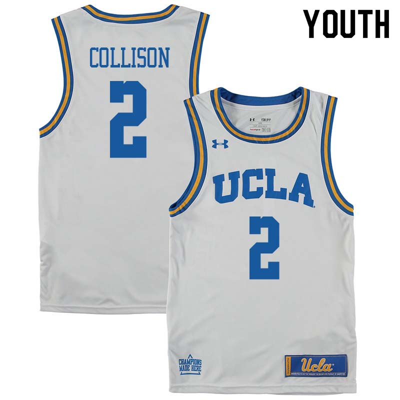 Youth #2 Darren Collison UCLA Bruins College Basketball Jerseys Sale-White