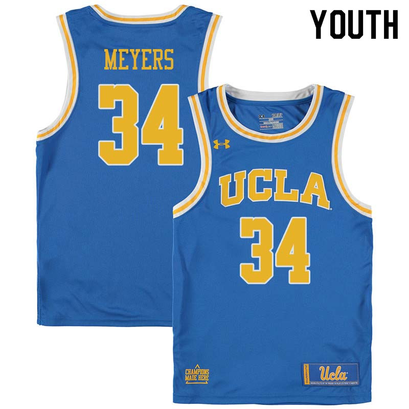 Youth #34 Dave Meyers UCLA Bruins College Basketball Jerseys Sale-Blue