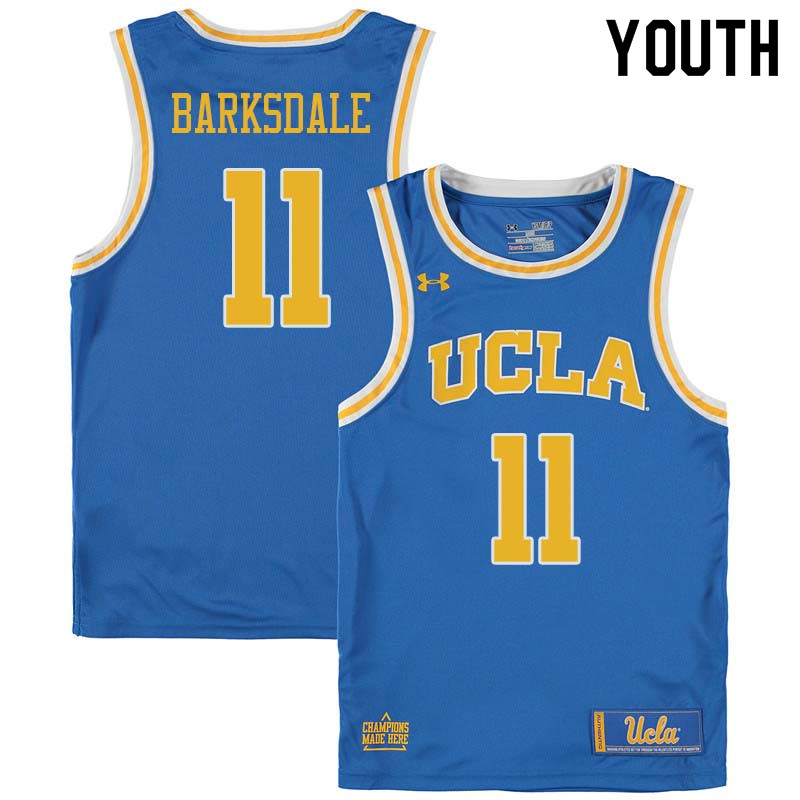 Youth #11 Don Barksdale UCLA Bruins College Basketball Jerseys Sale-Blue