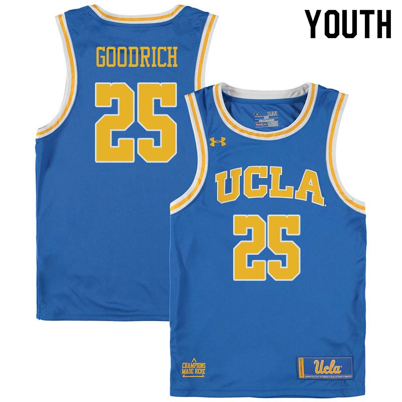 Youth #25 Gail Goodrich UCLA Bruins College Basketball Jerseys Sale-Blue
